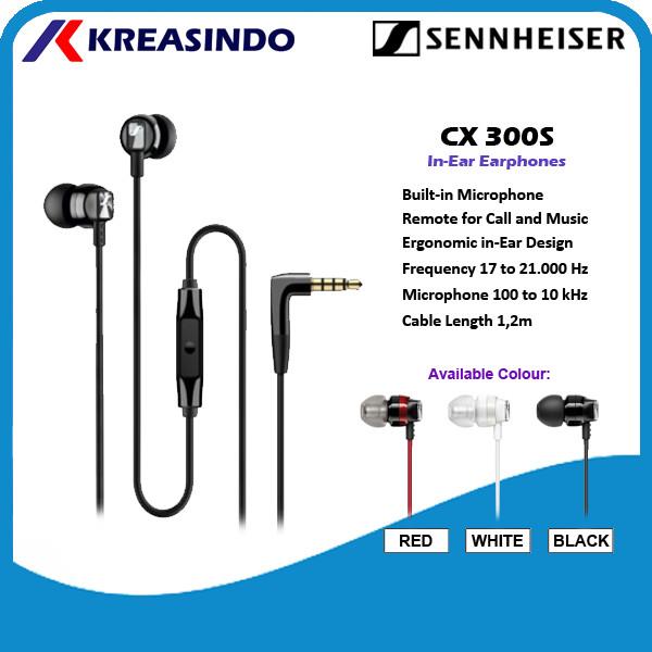 Foto Produk Sennheiser CX300S / CX 300S / CX 300 S Headset Earphone Garansi Resmi - Hitam dari Kreasindo Online