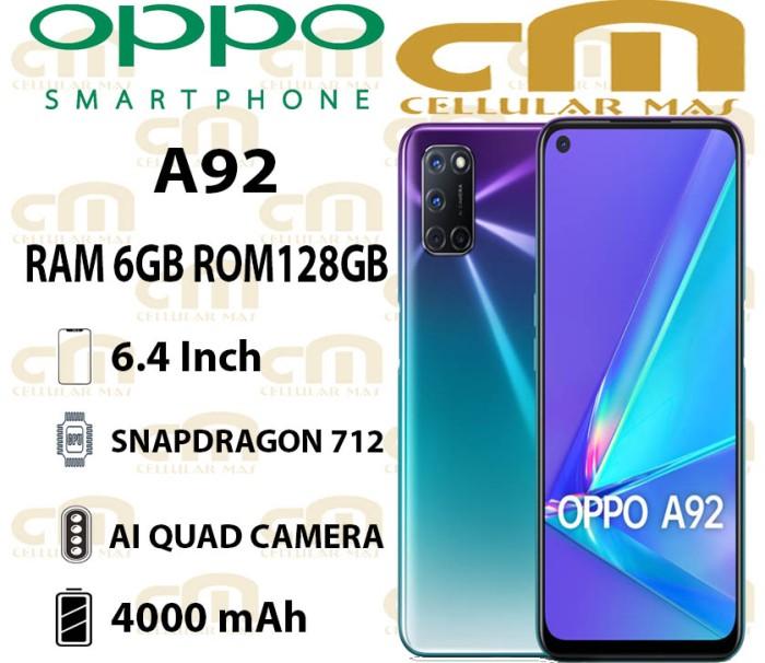 Foto Produk Oppo A92 6/128 RAM 6GB ROM 128GB GARANSI RESMI OPPO - Hitam dari Cellular Mas