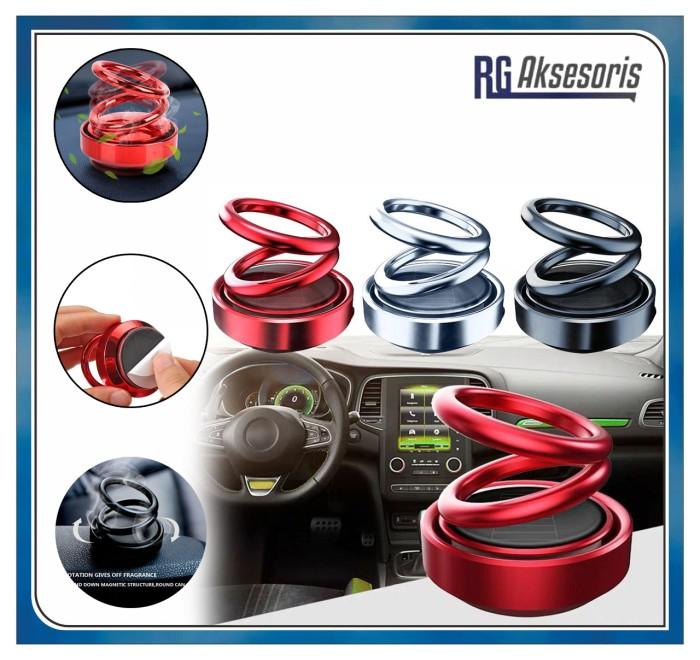 Foto Produk Pengharum Mobil MODEL RING / Double Ring Rotating Suspension Car - Merah dari RG AKSESORIS HP