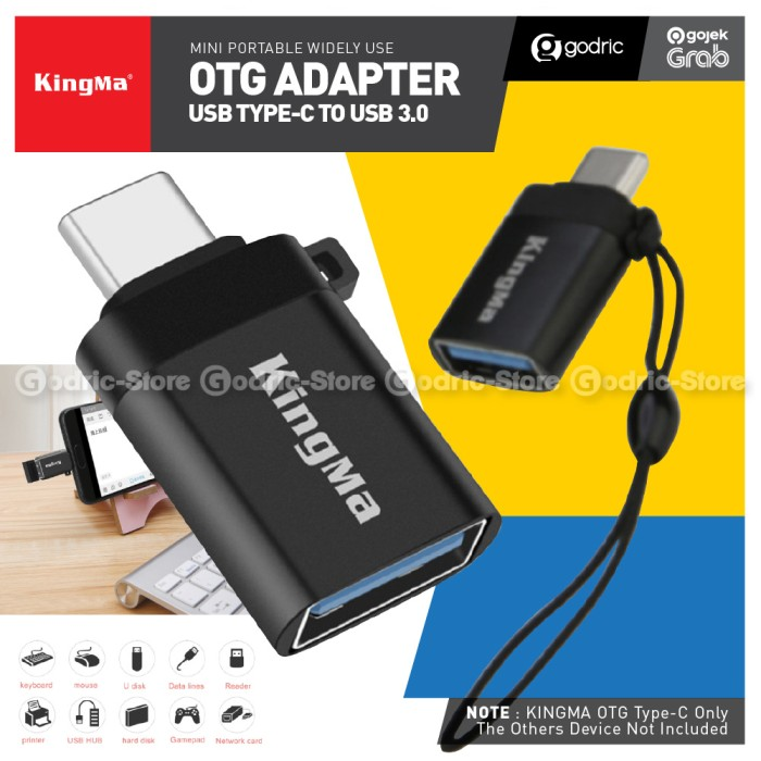 Foto Produk KINGMA OTG Adapter Type C to USB 3.0 Konverter Adaptor Fast Converter dari Godric Store
