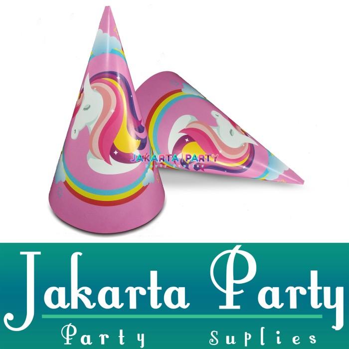 Foto Produk Topi Ultah Kerucut Unicorn #2 / Topi Ultah Unicorn / Topi Ulang Tahun dari Jakarta Party