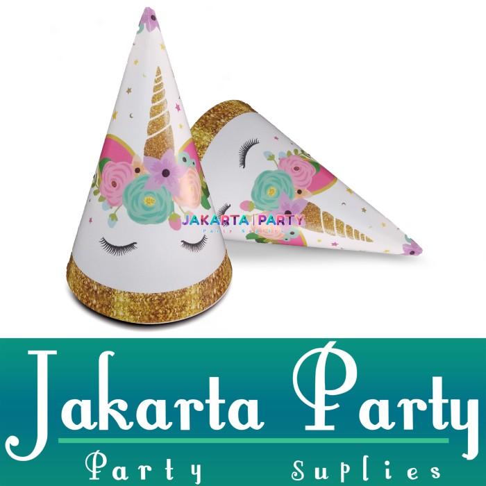 Foto Produk Topi Ultah Kerucut Unicorn #3 / Topi Ultah Unicorn / Topi Ulang Tahun dari Jakarta Party