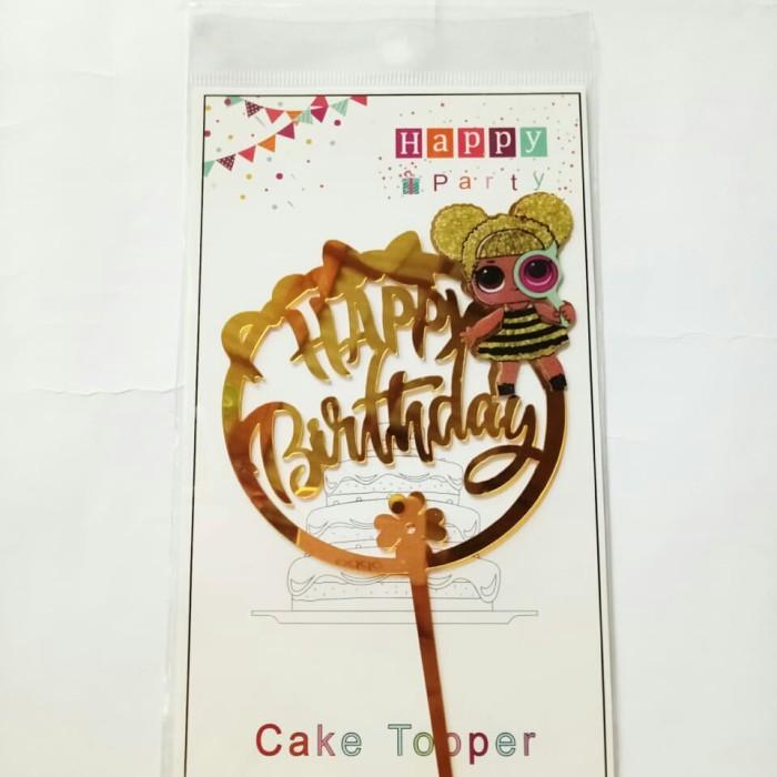 Foto Produk topper cake hiasan kue ulang tahun acrylic karakter lol surprise dari recht shop