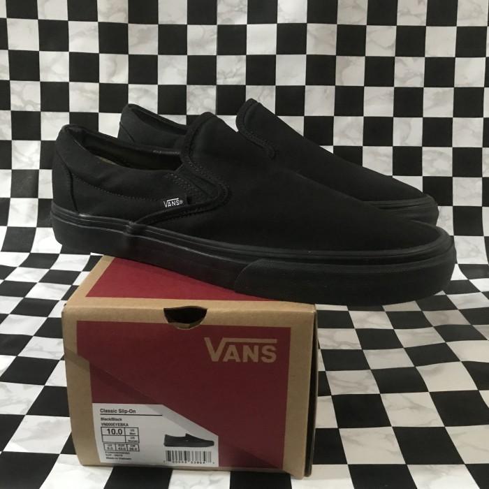 Foto Produk Vans Slip On All Black Original dari Bingo Store 1