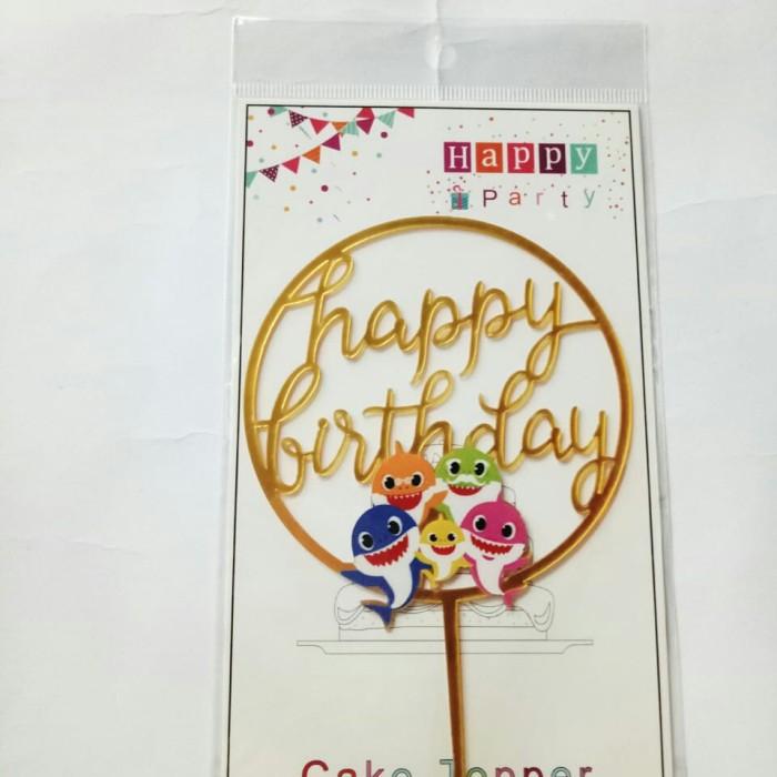 Foto Produk topper toper cake hiasan kue ulang tahun acrylic karakter baby shark dari recht shop