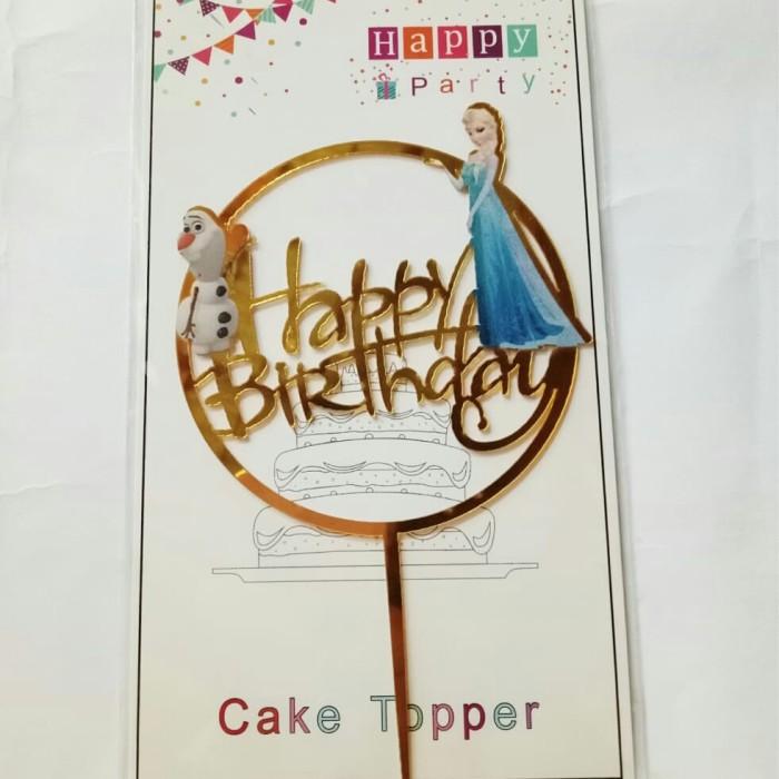 Foto Produk topper Toper cake hiasan kue ulang tahun acrylic karakter frozen dari recht shop