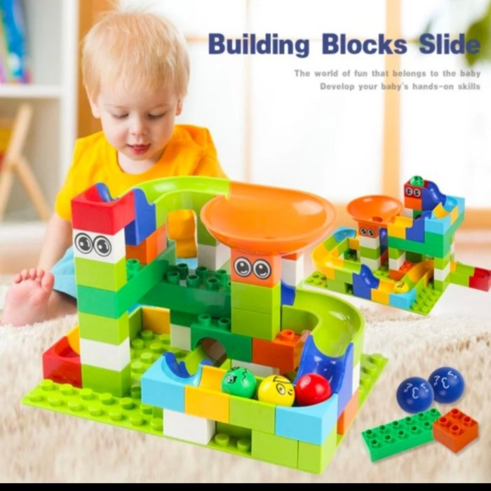 Foto Produk mainan anak set block Duplo seluncuran 56pc Tanpa Dus dari AUTO KID II