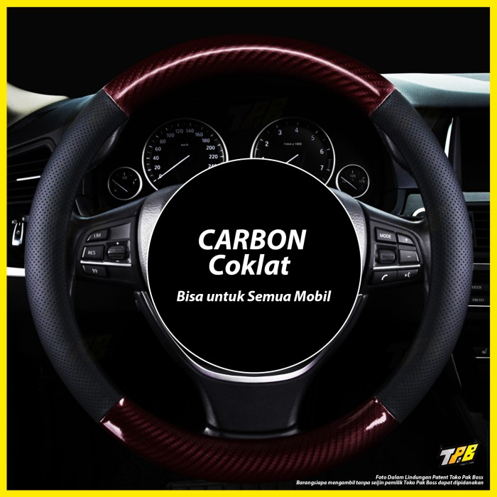 Foto Produk Sarung Cover Stir Setir Mobil motif kulit carbon kayu hitam krem cream - Carbon Hitam dari TOKO PAK BOSS