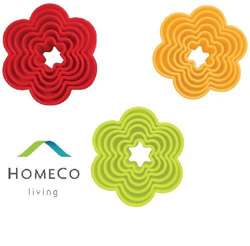 Foto Produk PLASTIC CAKE MOLD FLOWER / CETAKAN KUE BENTUK BUNGA ISI 6 PCS dari Homeco Living Official