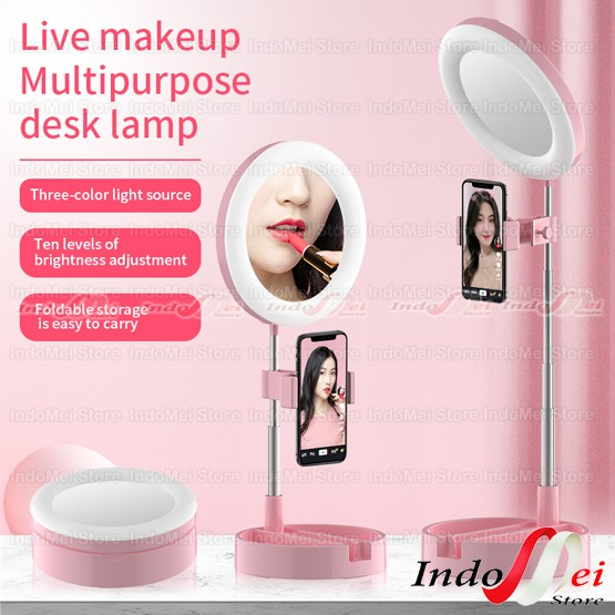 Foto Produk Kaca Ring light G3 Live Tiktok Led Light / Kaca Make up Lipat - Hitam dari Indomei Store