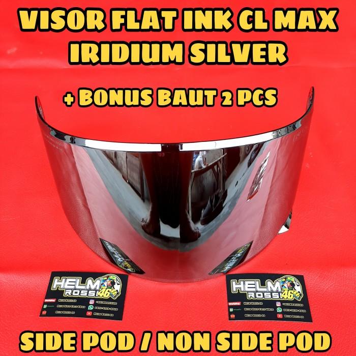 Foto Produk Visor Flat INK CL MAX Iridium Blue Silver Gold Smoke KYT RC7 R10 K2RID dari Helm Half Face VR46