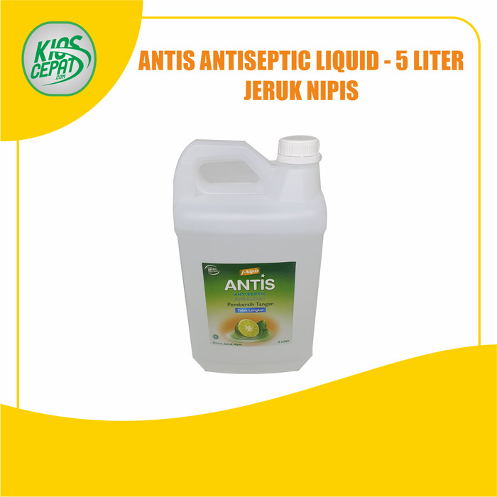 Foto Produk ANTIS Hand Sanitizer Antiseptic LIQUID 5Liter - Jeruk Nipis dari KiosCepat