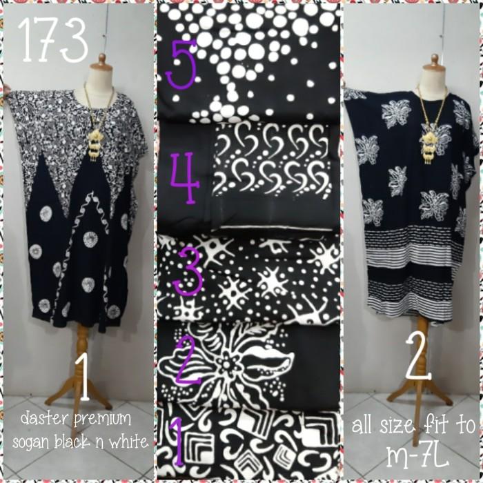 Foto Produk Daster kalong batik black n white premium hademmm pb:116cm (sebetis) dari Winnie Collection