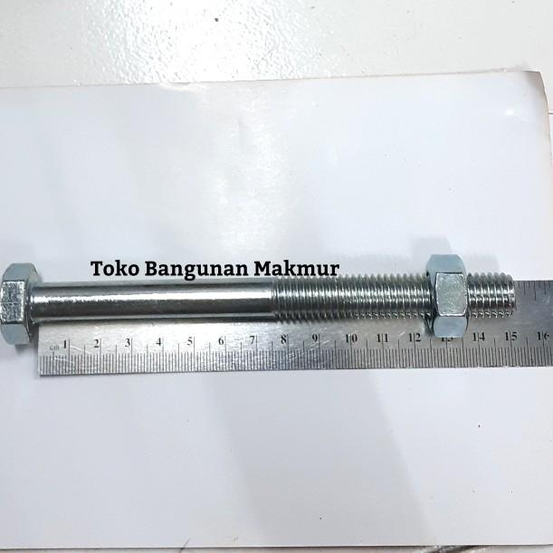 Foto Produk Baut Putih M14x150 Kunci Baut 22 dari toko Bangunan Makmur