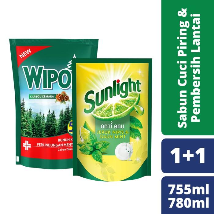 Foto Produk Sunlight Lime 755Ml dan Wipol Cemara 780 Ml dari Unilever Official Store