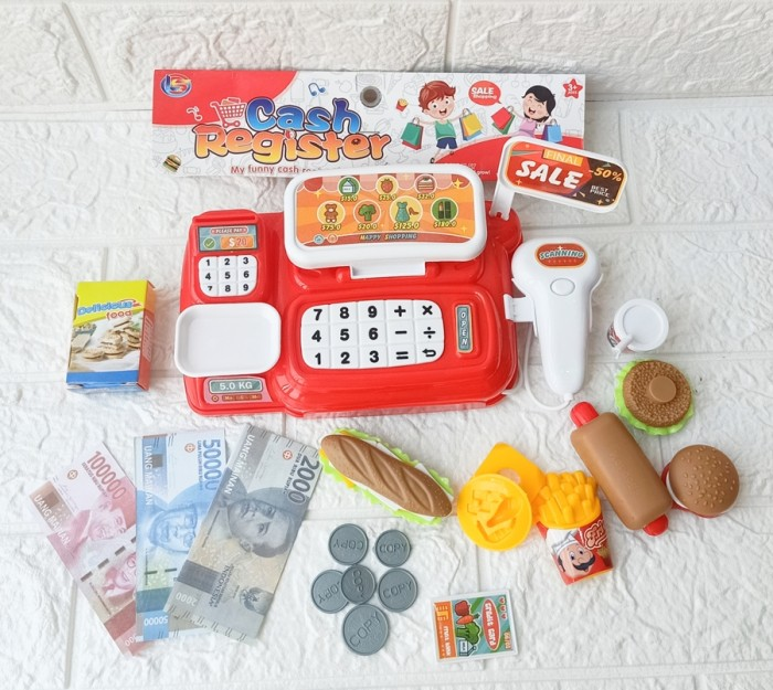 Foto Produk Mainan Kasir Kasiran Anak Cash register LK 20 Suara dari ANEKA MAINAN ONLINE