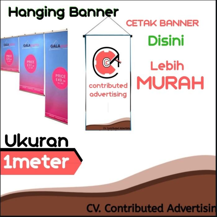 Jual Hanging Banner Promosi Gantung Banner Gantung Tiang Gantung Kota Tangerang Selatan Market Es Tokopedia