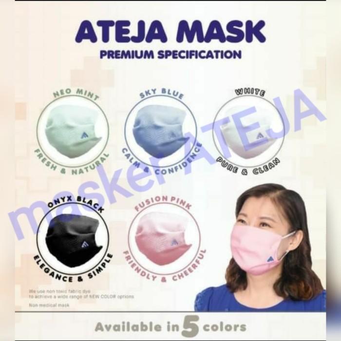 Foto Produk Masker Ateja Premium - Mix Warna (READY STOCK-STOCK TERBATAS) 1box=5pc dari Masker Ateja