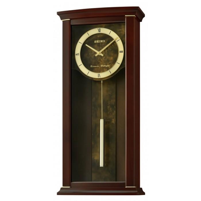 Foto Produk JAM DINDING SEIKO QXH067 QXH067B Wall Clock Dual chimes ORIGINAL RESMI dari grojam