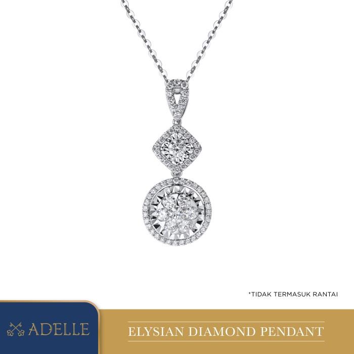Foto Produk Adelle Jewellery Elysian Diamond Pendant - Liontin Berlian - White Gold dari Adelle Jewellery