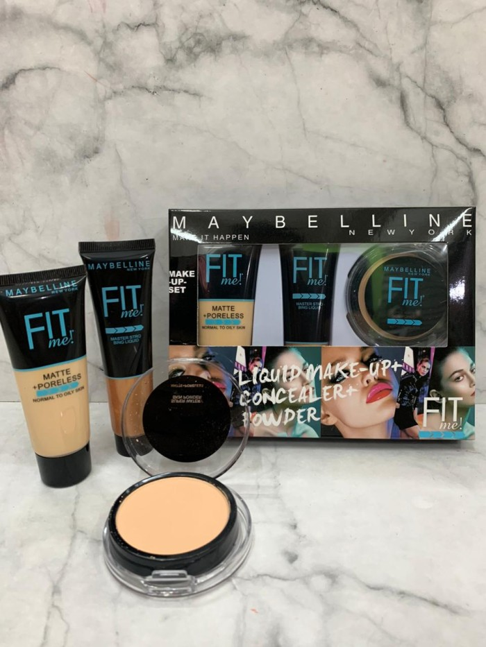 Foto Produk MAYBELLINE FIT ME 3in1 MAKE IT HAPPEN (BEDAK+FOUNDATION+CONCEALER) dari startled.id