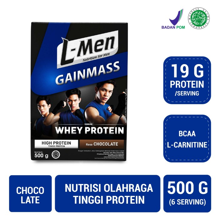 Foto Produk L-Men Gain Mass Chocolate 500 gr dari NutriMart