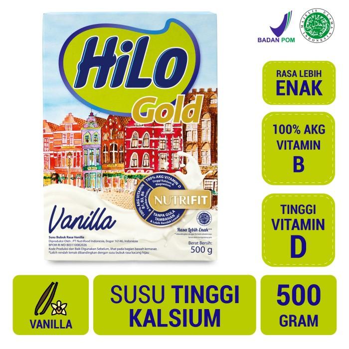Foto Produk HiLo Gold Vanilla 500gr - Susu Tinggi Kalsium dari NutriMart