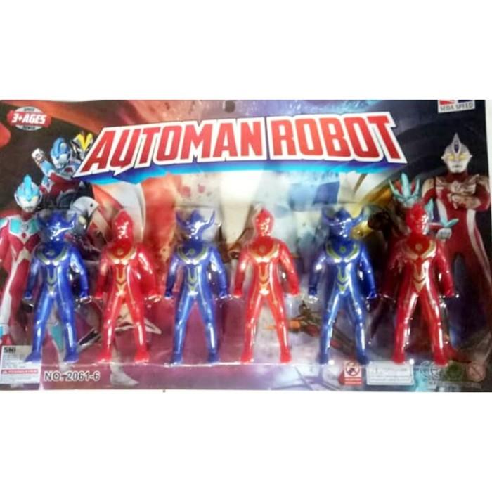 Foto Produk Mainan Robot Automan Isi 6 pcs No.2061-6 dari ANEKA MAINAN ONLINE