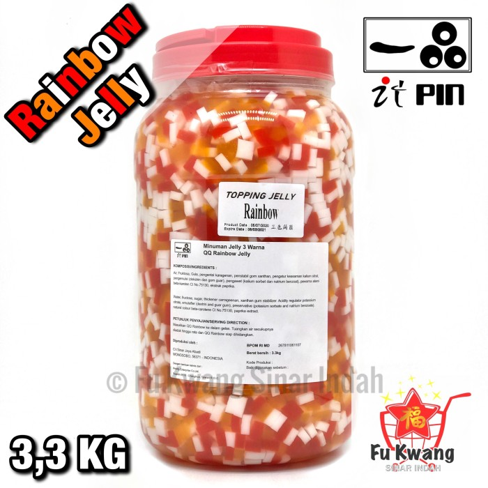 Foto Produk Rainbow Jelly Topping It Pin dari Fu Kwang Mart