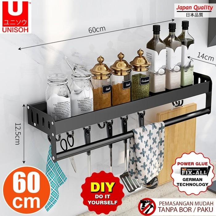 Foto Produk Rak Hitam Dinding Ambalan Hambalan Rak Dapur Gantungan dari serisaito
