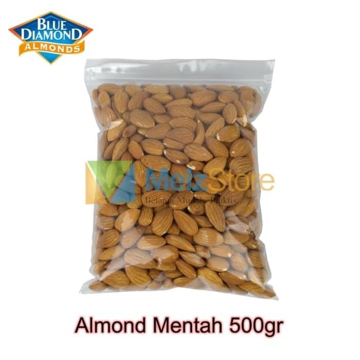 Foto Produk Kacang Almond Mentah Kupas Raw Whole Blue Diamond 500gr dari MelzCorp