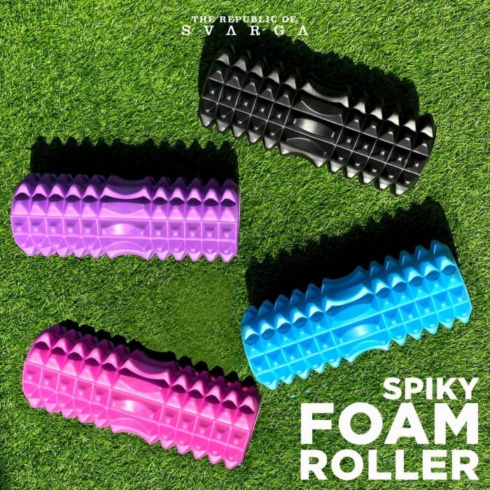 Foto Produk Svarga 30cm Spiky Foam Roller | Massage Roller - Biru Muda dari SVARGA YOGA