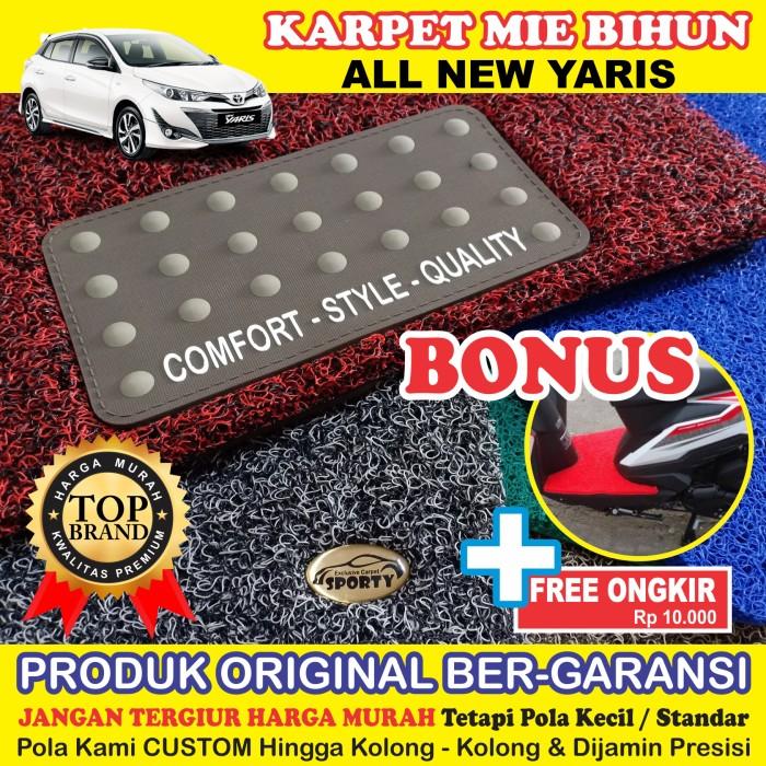 Foto Produk Karpet Mobil Mie Bihun ALL NEW YARIS Non Bagasi - Bahan 1 Warna dari KARPET MOBIL SPORTY