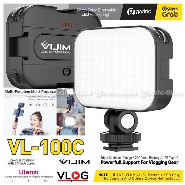 Foto Produk ULANZI VL-100C VIJIM Pocket Light Video LED (Soft Dual Color) Lampu HP dari Godric Store