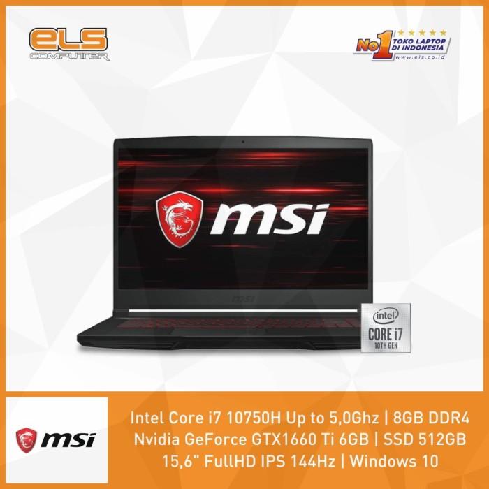 Foto Produk MSI GF65-10SDR-845ID - Black [i7-10750H-8GB-512GB-W10] dari ELS Computer