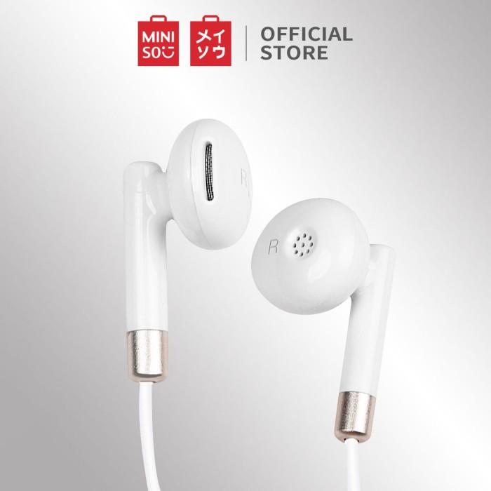 Foto Produk MINISO Earphone Musik Stereo Kabel Headphone In Ear Mic Headset Earbud - Silver dari Miniso Indonesia