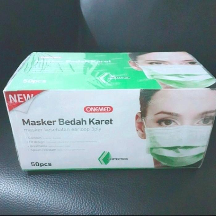 Foto Produk Onemed Masker Earloop Terbaru Bersegel - Hijau dari REJODADI1