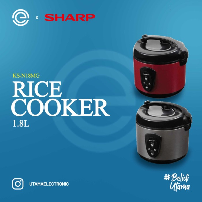 Foto Produk SHARP Rice Cooker 1.8 Liter KS-N18MG - Merah dari UTAMA_ELECTRONIC