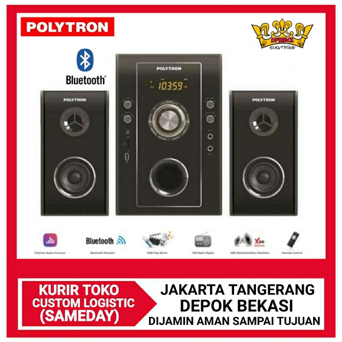 Foto Produk POLYTRON PMA9503 Multimedia Audio Speaker with Bluetooth-Gold/silver dari DPRINCE