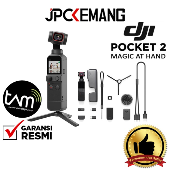 Foto Produk DJI Pocket 2 DJI Osmo Pocket 2 Action Camera GARANSI RESMI - Creator Combo dari JPCKemang