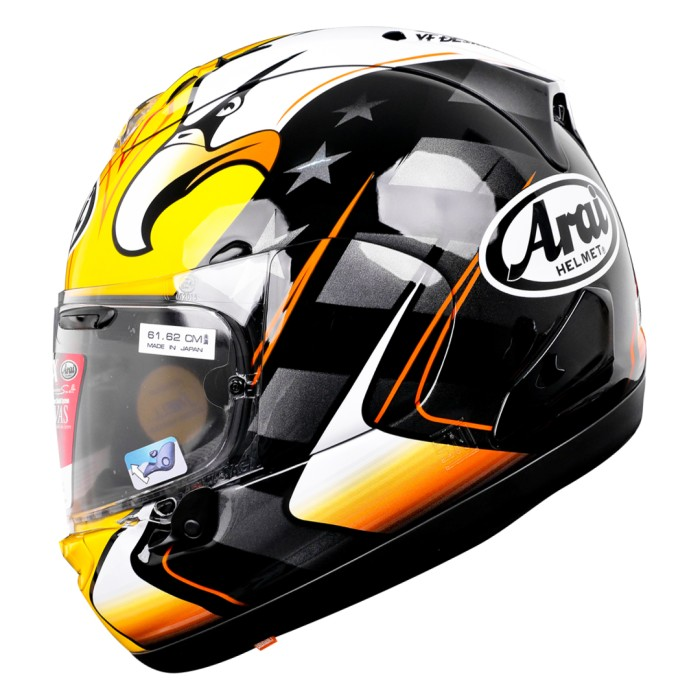 Foto Produk Arai SNI RX7X KR American Eagle Helm Full Face - Black Yellow - S dari Arai Indonesia