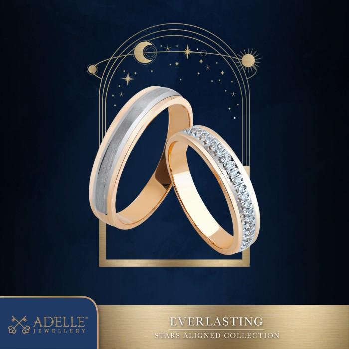 Foto Produk Adelle Jewellery Everlasting Wedding Ring - Cincin Pernikahan - Two Tone dari Adelle Jewellery