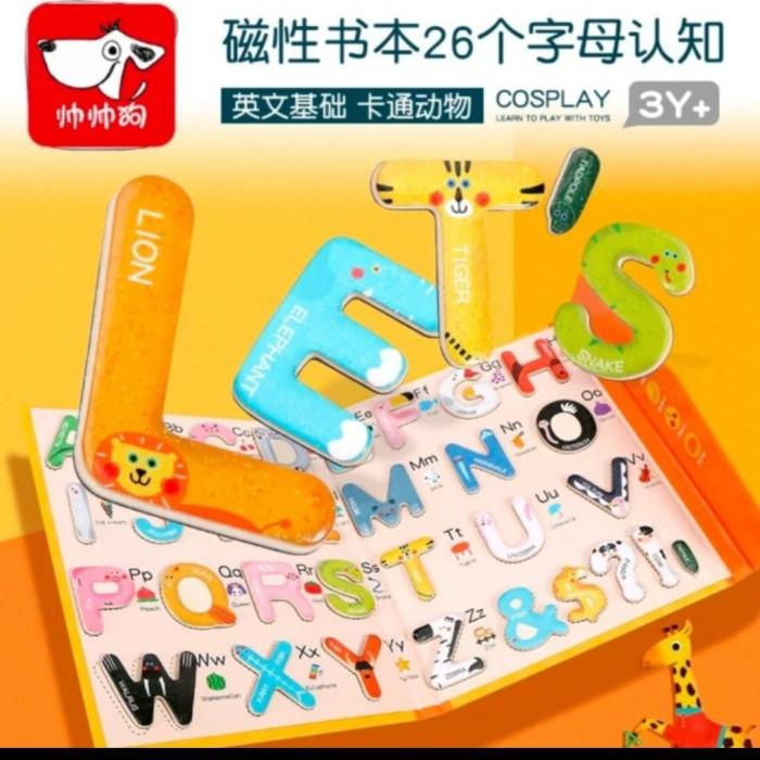 Foto Produk mainan edukasi anak puzzle huruf alfabet wooden toys Letter pairing dari AUTO KID II
