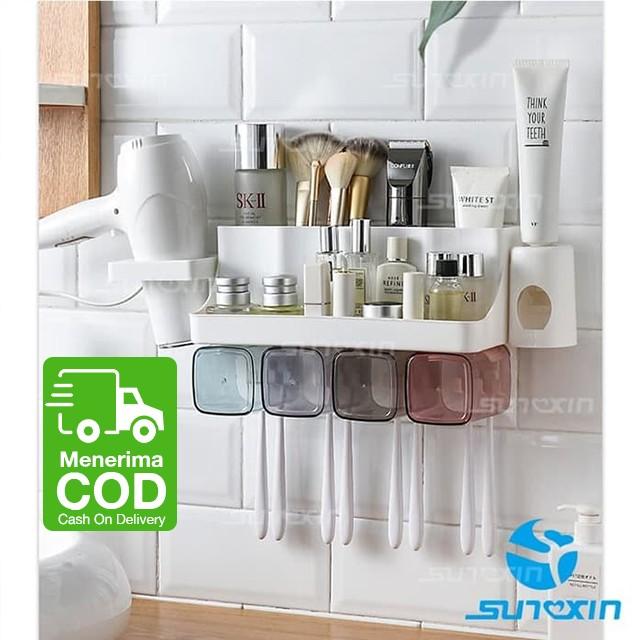 Foto Produk Tempat Alat Mandi Anti Debu Tempat Odol Tempat Sikat Gigi - 2 Cups dari SUNXIN