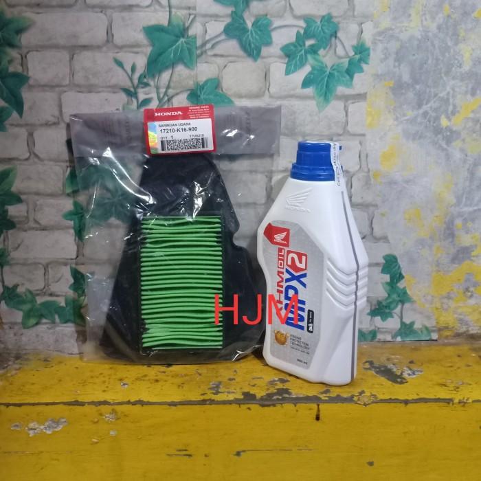 Foto Produk oli honda mpx2 matic dan filter udara beat fi scopy fi vario fi 110 dari HJM jakrta