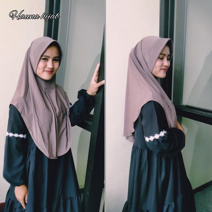 Foto Produk khimar jersey /khimar pinguin - Hitam Khimar dari Hauna hijab
