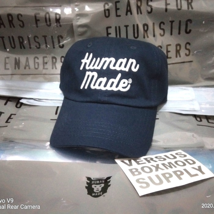 Foto Produk Human made cap hats LOGO 6 PANEL TWILL - biru tua lte dari versus box mod supply
