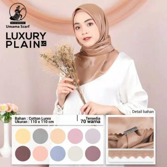 Foto Produk Kerudung Umama Luxury Shinar Sinar Glamour Polos Segi Empat Hijab dari GM SMART STORE