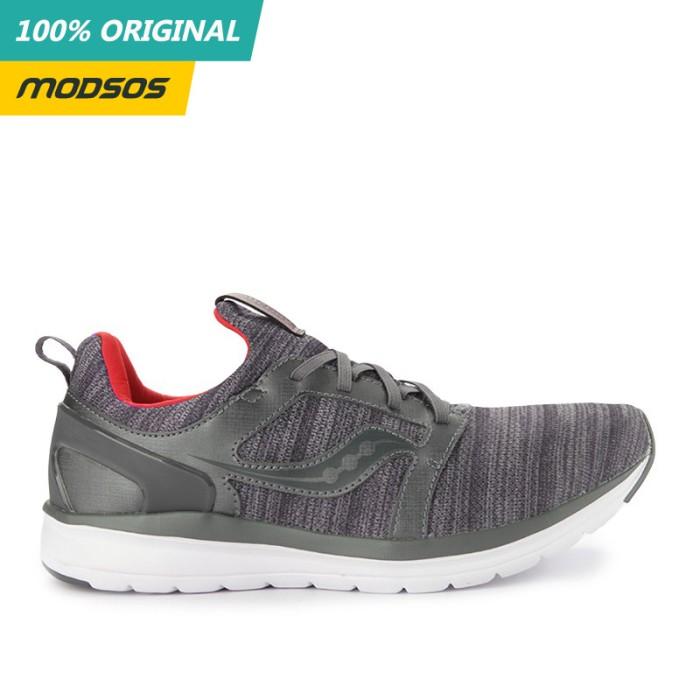 Foto Produk Sepatu Lari Pria Saucony Stretch Running Grey Original dari Modsos