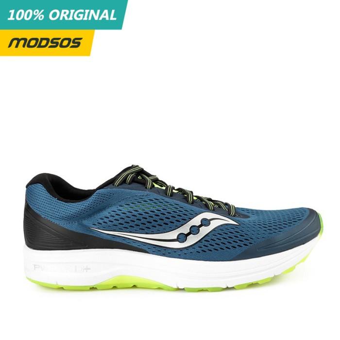Foto Produk Sepatu Lari Pria Saucony CLARION Running Blue Original dari Modsos